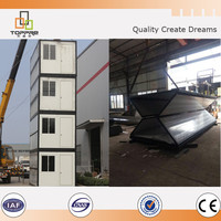 Foldable tempotary on site construction house folding container home uk