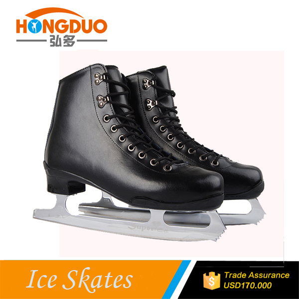 Full leather Ice skates for sale , long track ice sakte
