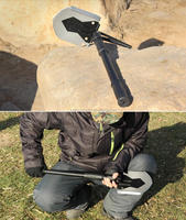 multi-functional foldable camping military shovel