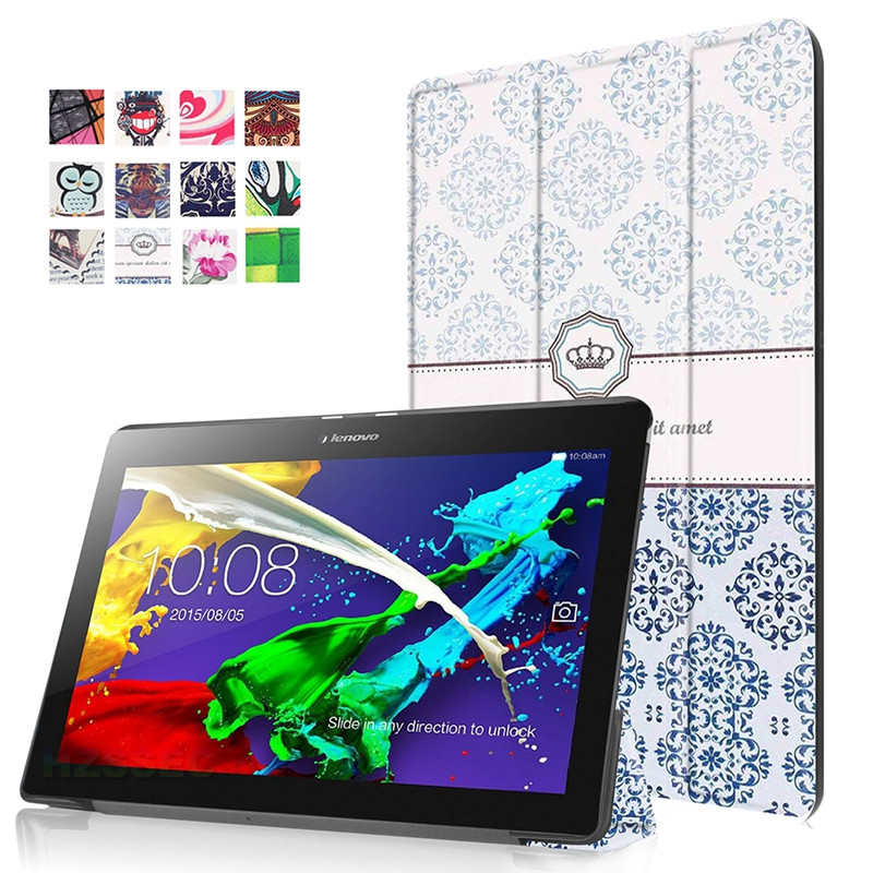 Rugged shockproof 10 inch pu leather tablet cover case for lenovo tab 2 x30 a10-30 protective pattern case