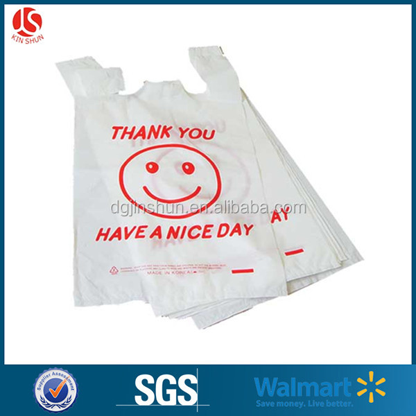 Walmart plastic clear T-shirt shopping bag