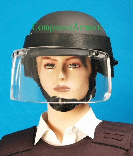 Armored PE, Kevlar Bulletproof HELMET visor BUlletproof helmet face shield Tactical Ballistic Protection Helmet with Face Shield
