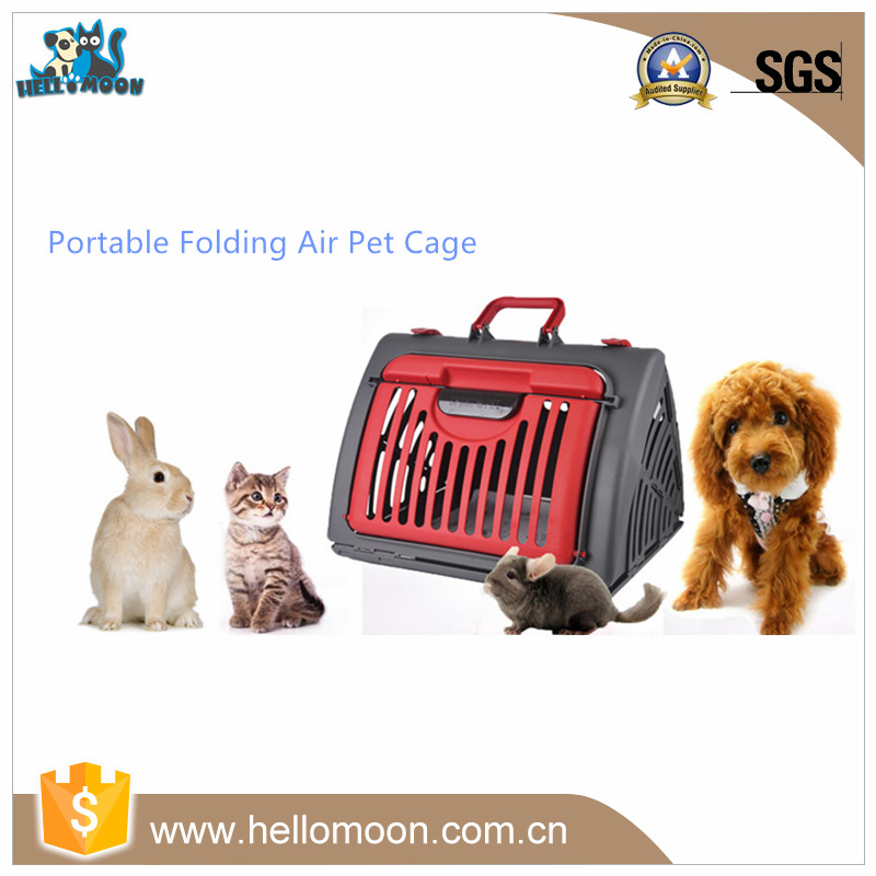 Wholesale Folding Portable Plastic Air Pet Dog Cage For Sale Cheap