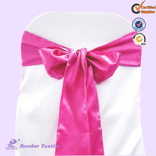 Fushcia hot sale ruffle wedding fancy chair sashes for weddings