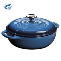 2016 High design cast iron enamel cookware with different colors