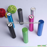 SINOTEK 2600 mAh metal lipstick power bank promotional gift item