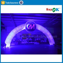 cheap LED lighting inflatable entry arch for advertising