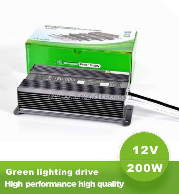 200w waterproof led driver sgpac10v1 tablet charger CE,RoHS approved netural package