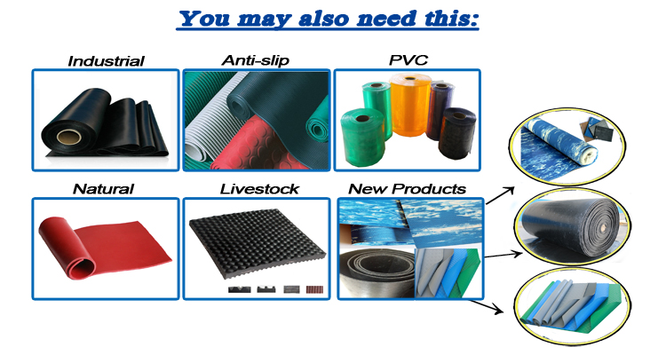 3-8mm Colorful Granule Rubber Mats For Fitness and Gym