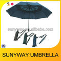 540mm*8ribs windproof auto 3 fold umbrella with carrying case