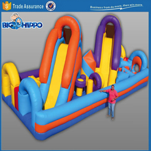Twin leap inflatable vivid colorful top quality slide
