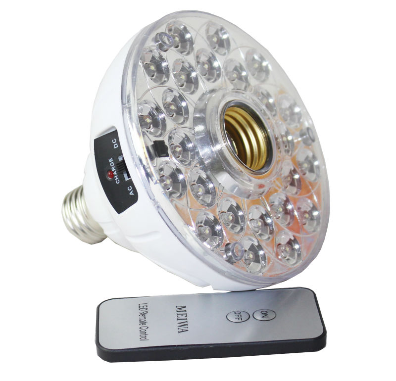 indonesia lampu E27 3W remote control emergency led bulb light with built-in battery