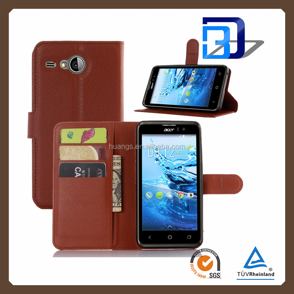 2016 new products wallet card holder leather imak back cover case skin shield for Acer Liquid Z520 china price