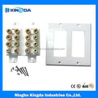 16 ports home theater wallplate