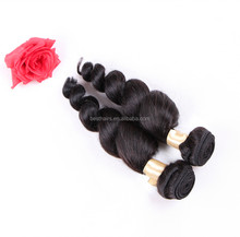 Grade 7A--Top Quality 100% Human Hair Natural color Loose wave hair bundle with 100g/Piece & Length 8''--32'',Large Promotion