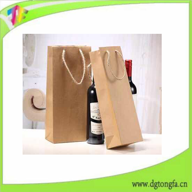 Manufactory Cardboard Beautiful Paper Bags Custom Made Wine Packing Paper Bag Gift Bag GuangDong
