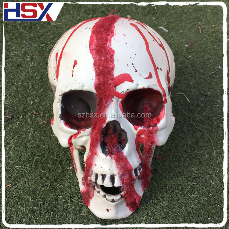 2017 New Design Halloween Decoration Bloody Skull Head For Masquerade Party Props