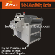 Cover making edge folding cover corner cutting and grooving photo album making machine
