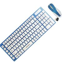Rechargeable wireless mouse and keyboard combo OEM logo with custom package