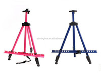 colorful metal easel stand with hand crank display stand sketch easel factory from linyi,China