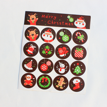Latest 2018 Hot Sale Adhesive Vinyl Christmas Sticker Label with Good Quality