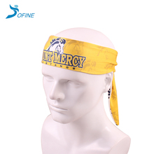Cheap promotional custom digital print long elastic headband