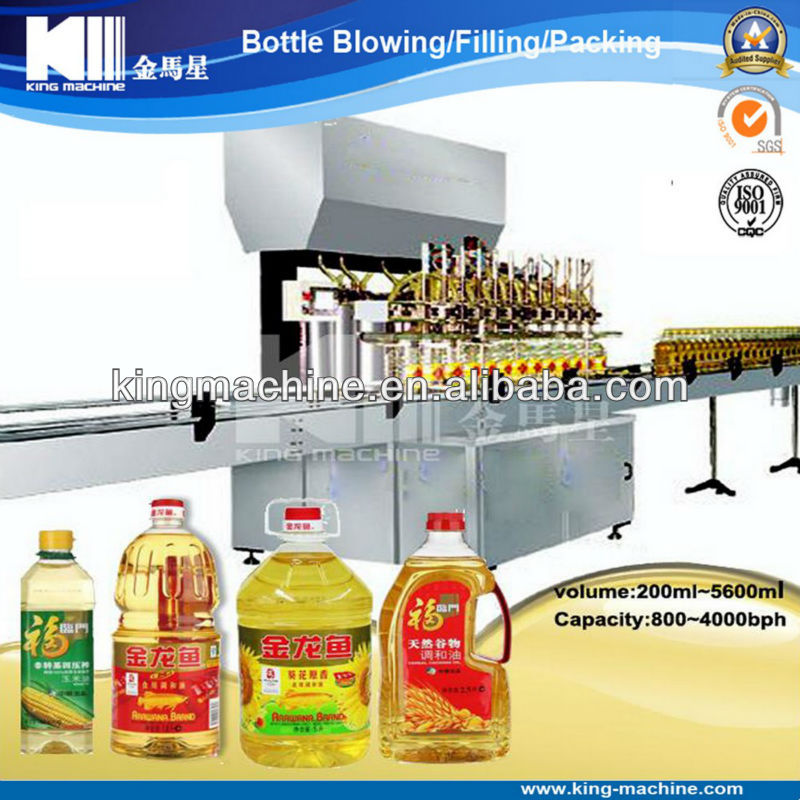 Automatic Edible Oil Bottling Line / Facility / Machine Manufacture
