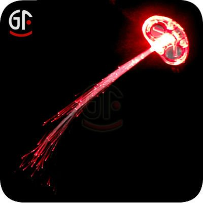 China Party Items Factory Price Flash Led Fiber Optic Hair Accessory for Concerts