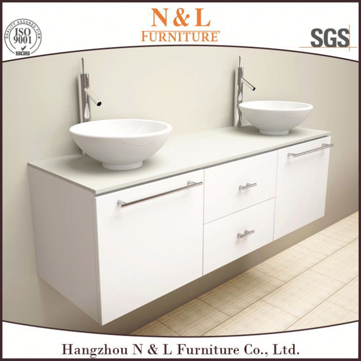 48 inch Single Sink Bathroom Vanity in White withWhite Marble - Vanity Top Included