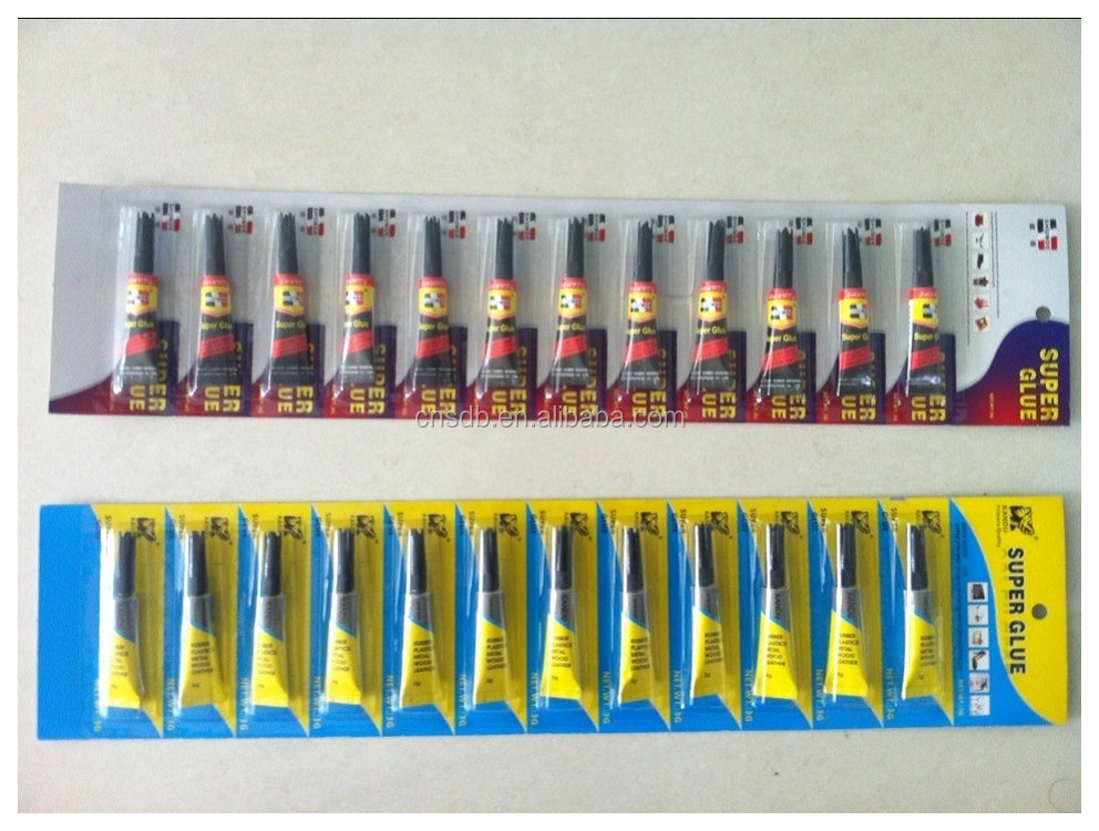 long card 12pcs super power glue