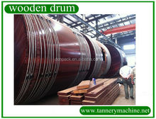 leather dry limed hide split wooden tannery drum