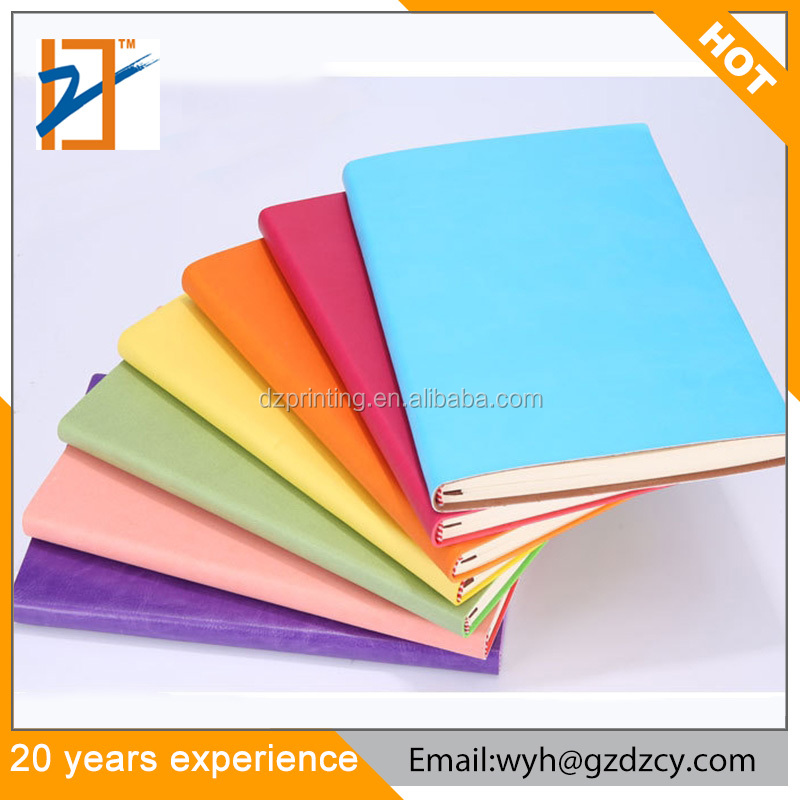 Custom High Quality PU Leather Cover Hardcover Note book Student Diary Notebook Office School Supplies