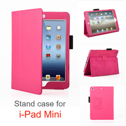 Customized Logo Back PU Leather Tablet Cover For iPad Mini, for ipad mini tablet cover case