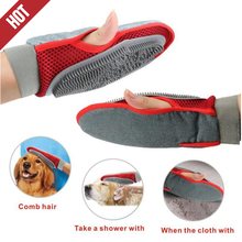 Factory Wholesale Hair Comb Cleaning Brush Animal Massage Hair Removal Dog Bath Red Pet Grooming Glove