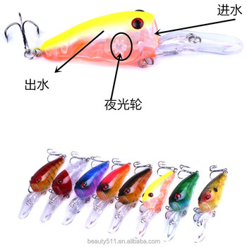 HOT sale 3D Eye Artificial Bait fishing lure Lures 6# Hook 9cm 11.5g crank Fishing Lure Hard Artificial Swim Baits 5 colour