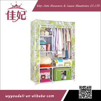 new trend uniquely assemble non woven fabric glass door wardrobe