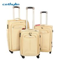 Nylon luggage case korea and japan trolley luggage