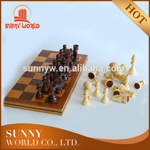 Folding Wooden Game Chess Board