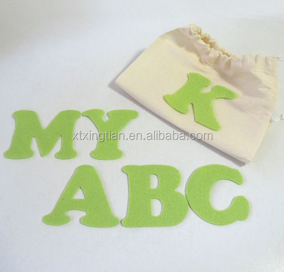 Lime Green Felt ABC Set Alphabet Felt Board Pieces
