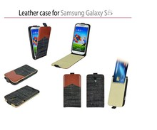Leather Jean card business card plastic Case For Samsung Galaxy S5 i9600