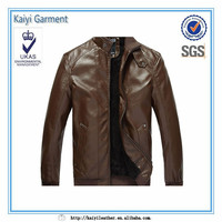 high quality brown vintage imitation leather jacket motorcycle for men