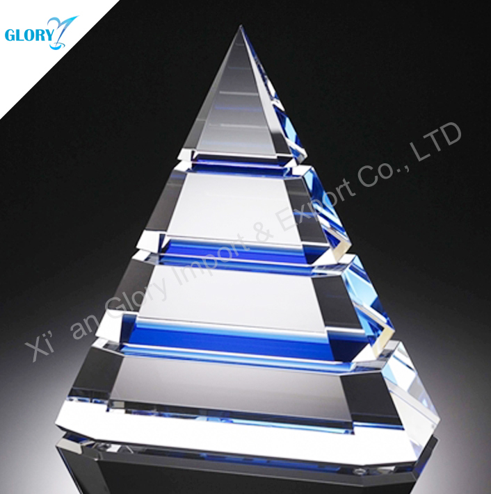 Wholesale 2016 New design Colorful Crystal Pyramid