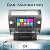 High quality can bus for citroen c4 car dvd gps navigation steering wheel control bluetooth car dvd palyer RDS FM AM radio audio