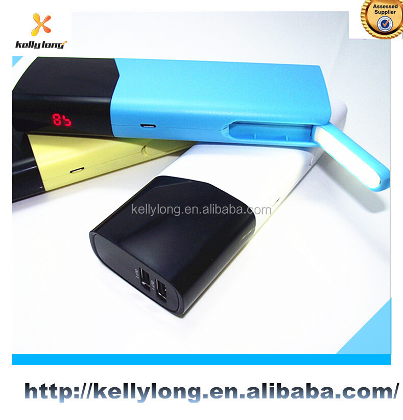 2 Dual USB Shaking Control 10400mah power bank smart portable power bank for smart phone digital camera