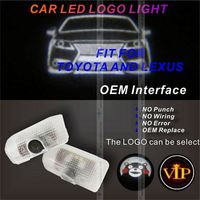High Brightness 3D LED Car Ghost Shadow Light light guide
