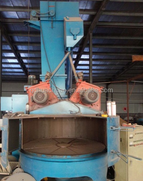 QD3512 rotary table sandblasting machine,turntable type