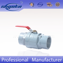 High Quality PVC Stainless Steel Ball Valve PVC Ball Cock Valve