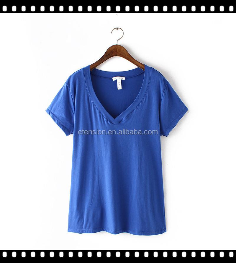 Custom Design Sexy V Neck T Shirt Womens Custom Clothes