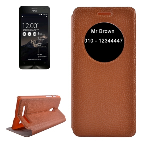 Cheap Price Flip Leather Cover Case for ASUS ZenFone 5 Cover with Caller ID Display Window