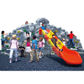 Factory supply wholesale kids rock climbing equipment outdoor with slide